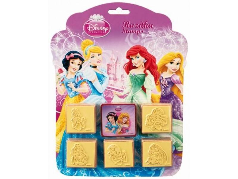 Set creativ 5 stampile din lemn Princess