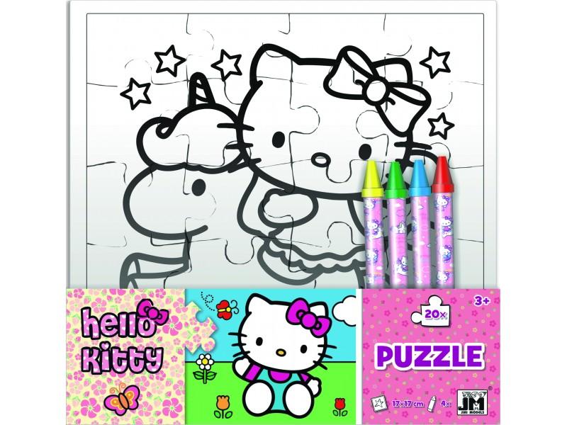 Set creativ puzzle Hello Kitty