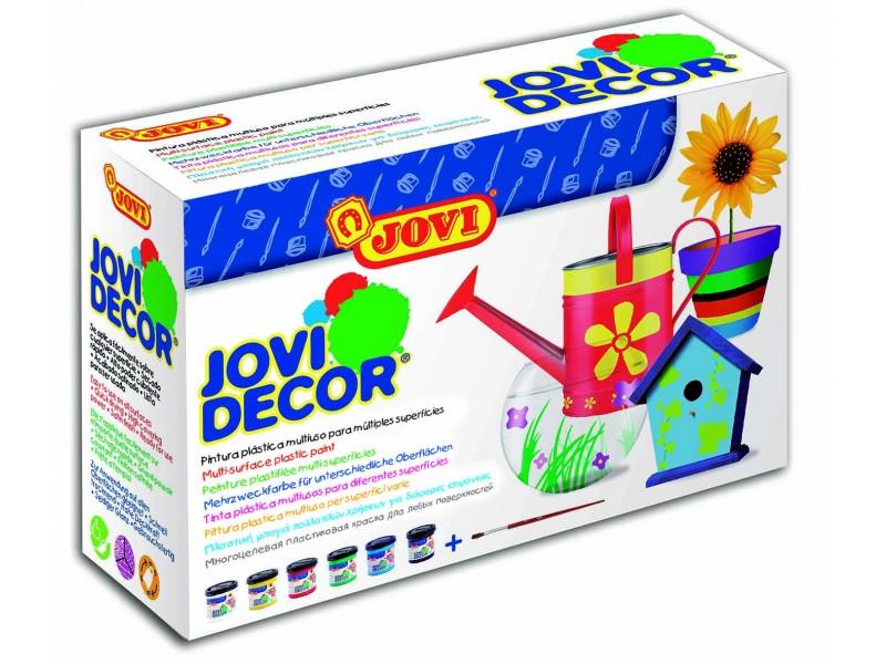 Tempera decorativa-suprafete multiple 6 culori x 55 ml/culoare set Jovidecor Acryl