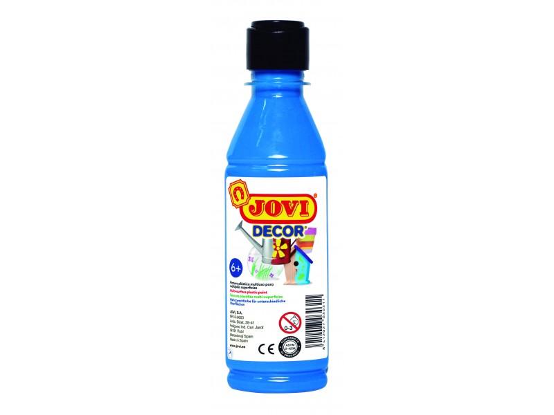 Tempera decorativa-suprafete multiple albastru deschis 250 ml/sticla Jovidecor Acryl