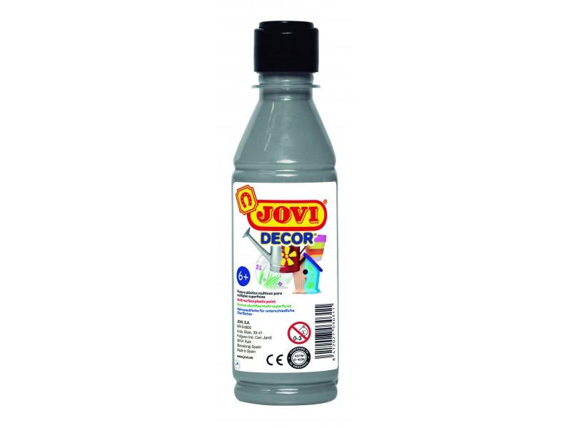 Tempera decorativa-suprafete multiple argintiu 250 ml/sticla Jovidecor Acryl