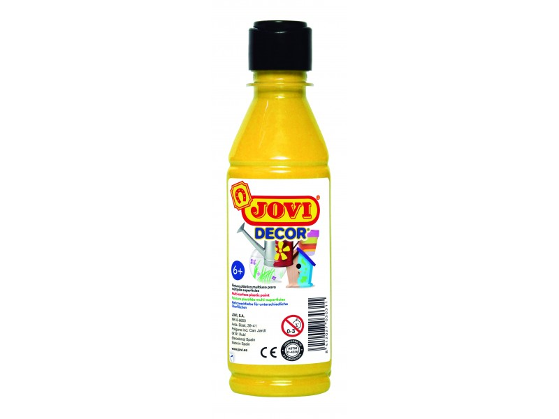 Tempera decorativa-suprafete multiple galbena 250 ml/sticla Jovidecor Acryl
