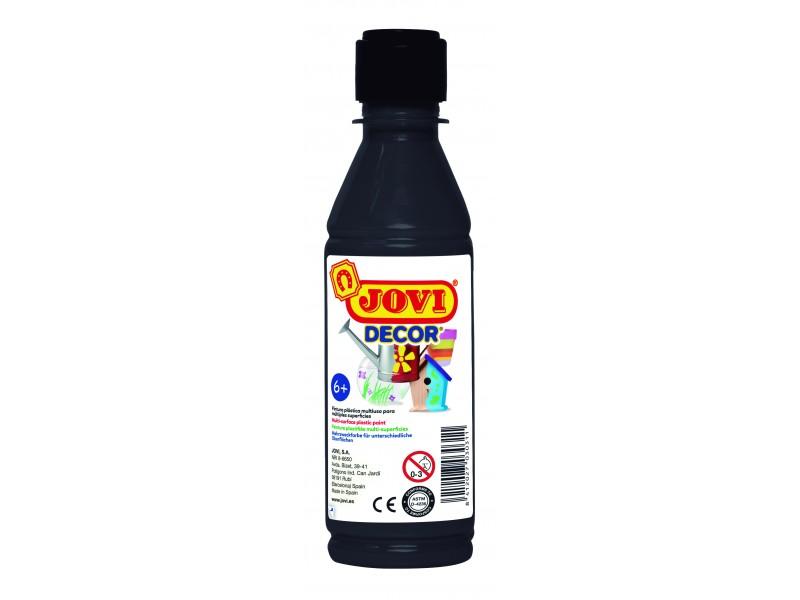 Tempera decorativa-suprafete multiple negru 250 ml/sticla Jovidecor Acryl