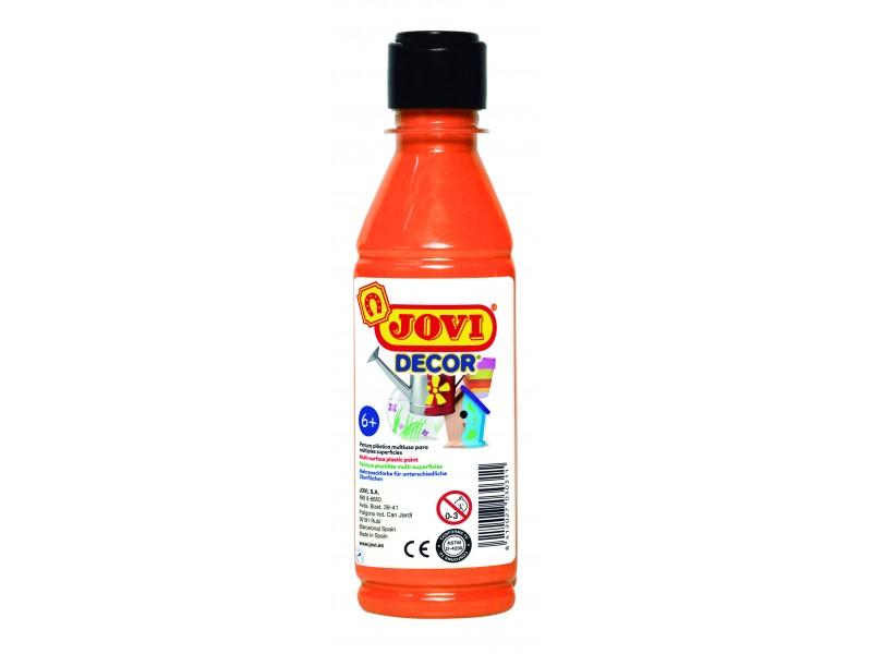 Tempera decorativa-suprafete multiple portocalie 250 ml/sticla Jovidecor Acryl