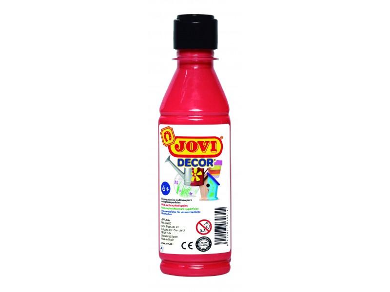 Tempera decorativa-suprafete multiple rosu 250 ml/sticla Jovidecor Acryl