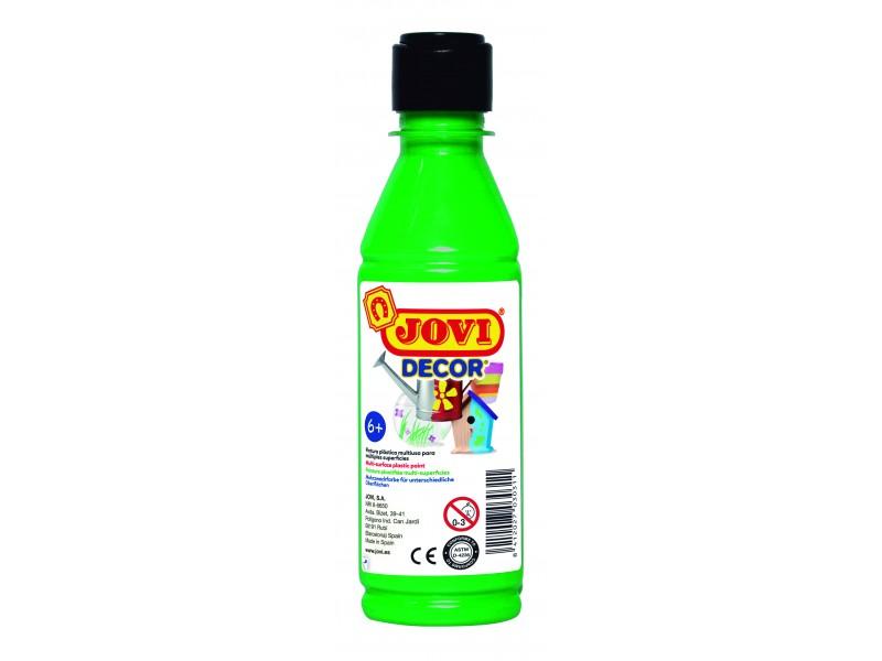 Tempera decorativa-suprafete multiple verde deschis 250 ml/sticla Jovidecor Acryl