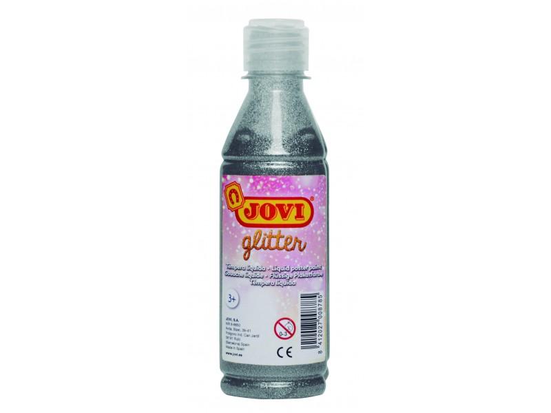 Tempera lichida cu sclipici argintiu 250 ml/sticla Jovi