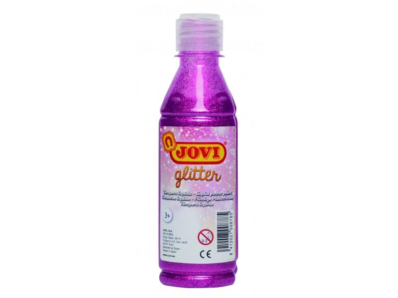 Tempera lichida cu sclipici roz 250 ml/sticla Jovi