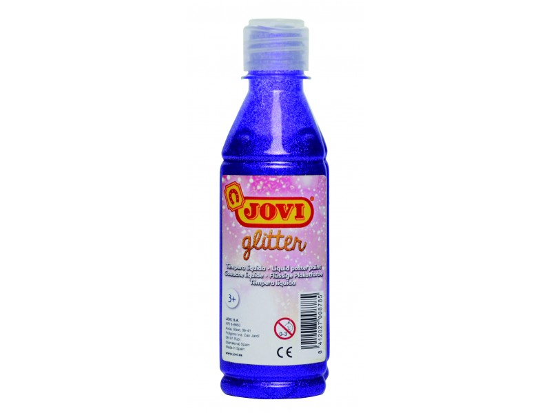 Tempera lichida cu sclipici violet 250 ml/sticla Jovi