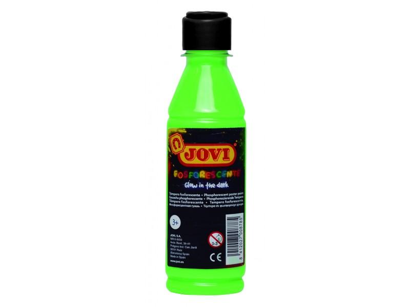 Tempera lichida fosforescenta verde 250 ml/sticla Jovi