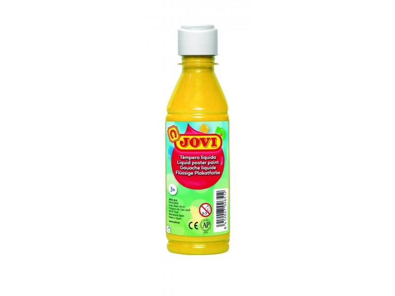 Tempera lichida galbena 250 ml/sticla Jovi