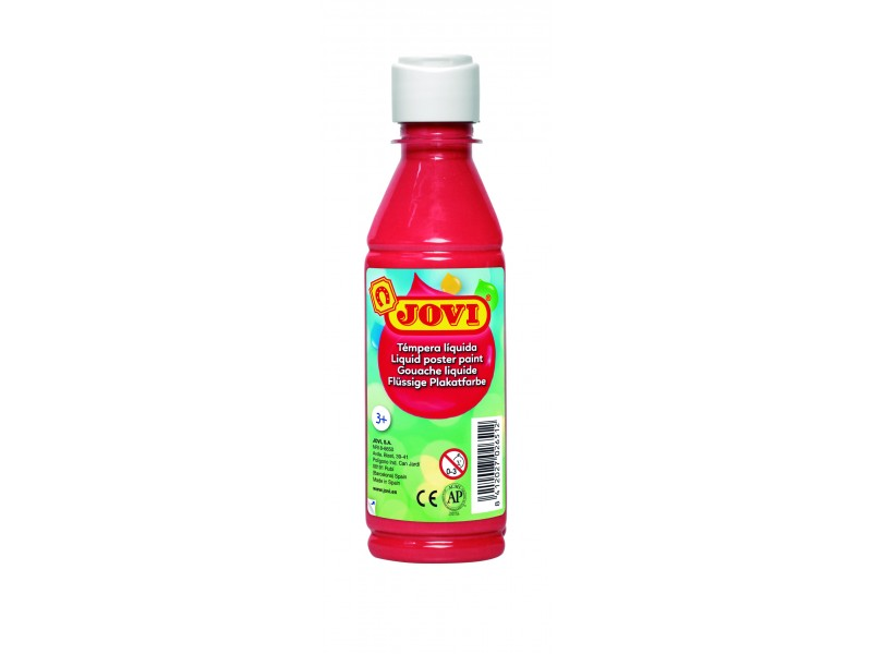 Tempera lichida rosu 250 ml/sticla Jovi