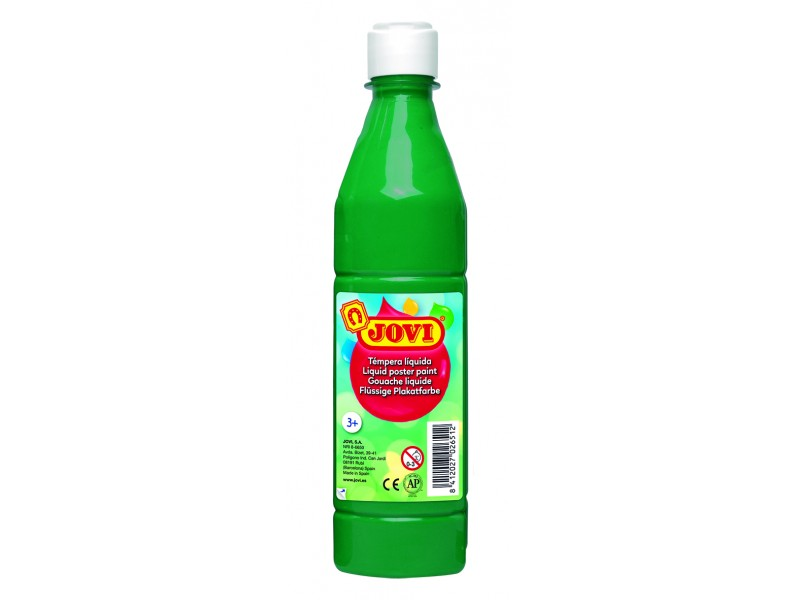 Tempera lichida verde inchis 500 ml/sticla Jovi