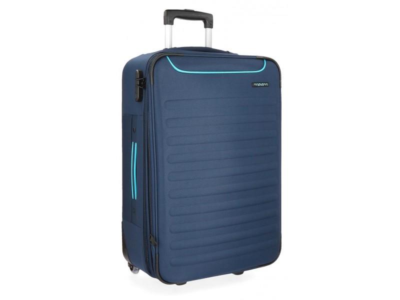 Troler textil 66 cm 2 roti Movom Nairobi albastru