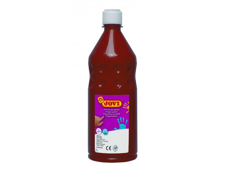 Vopsea pt pictat cu degetele maron 750 ml/sticla Jovi