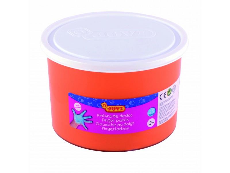 Vopsea pt pictat cu degetele portocalie 500 ml/cutie Jovi