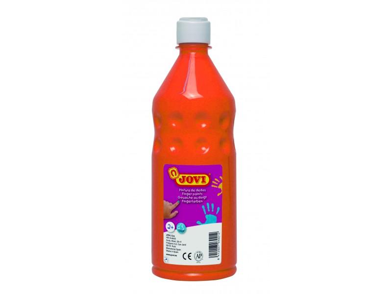 Vopsea pt pictat cu degetele portocaliu 750 ml/sticla Jovi