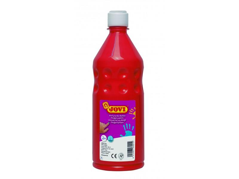 Vopsea pt pictat cu degetele rosu 750 ml/sticla Jovi