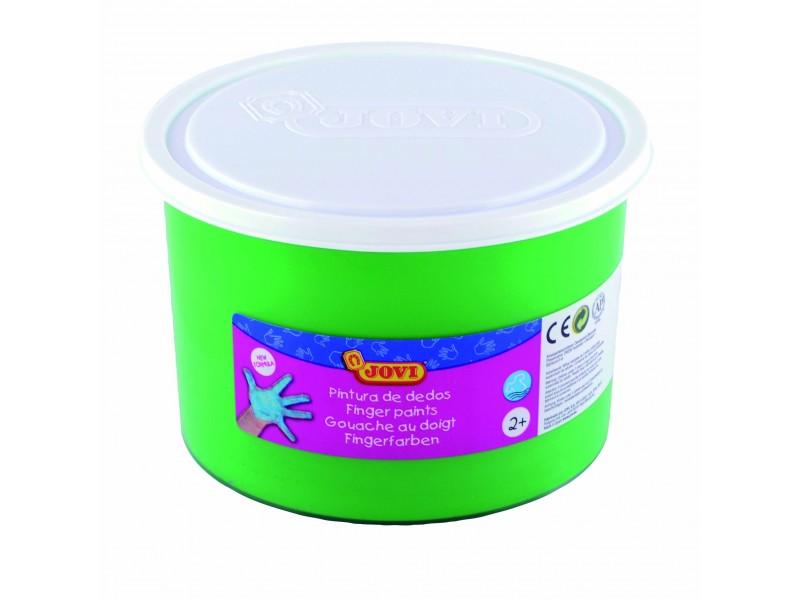 Vopsea pt pictat cu degetele verde 500 ml/cutie Jovi