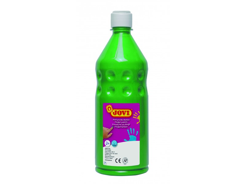 Vopsea pt pictat cu degetele verde 750 ml/sticla Jovi